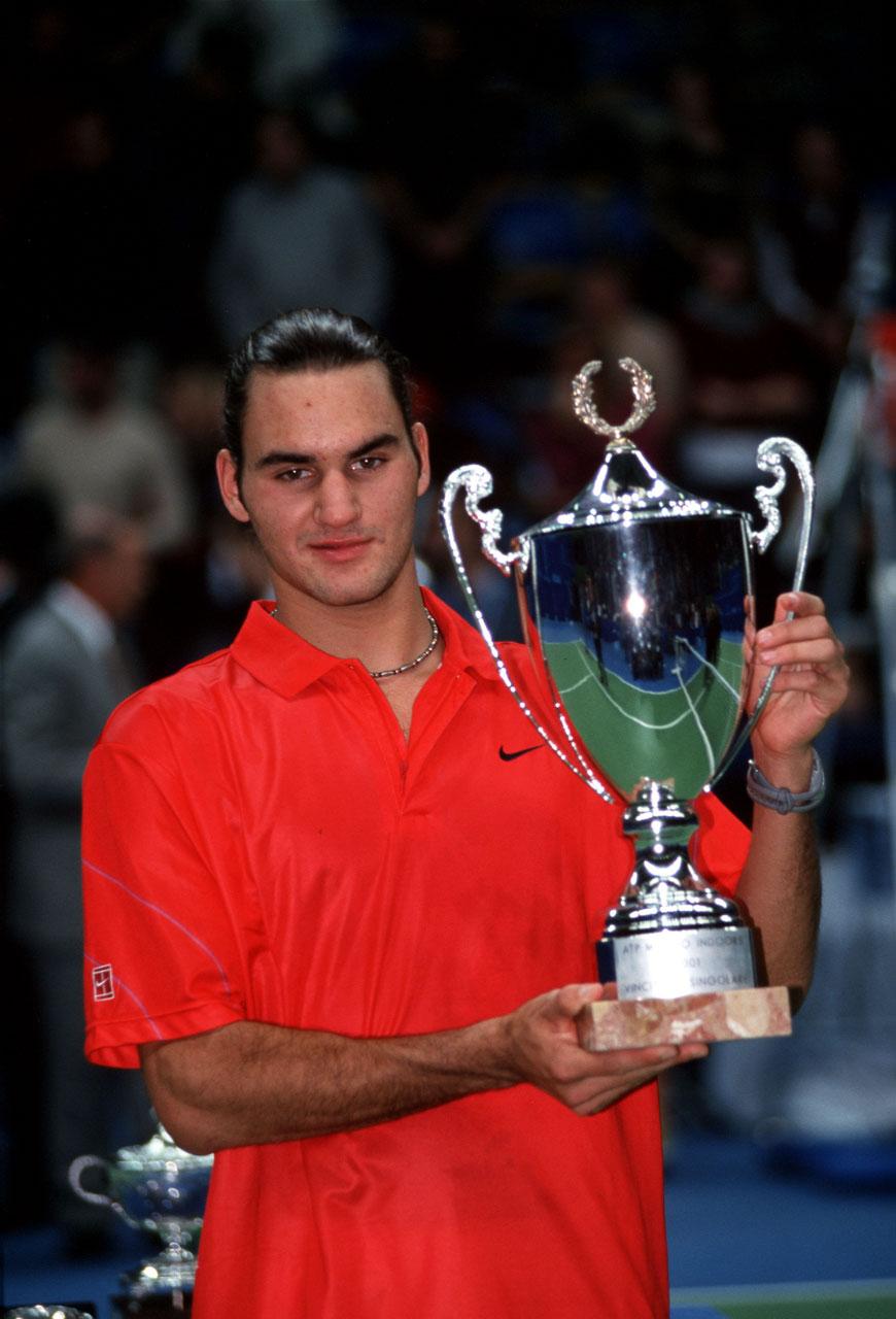 Roger Federer nel 2001 © Marco Galbiati / LUZ Essere Roger Federer